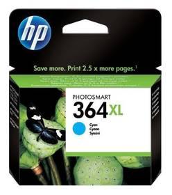 Inkoustová náplň HP No. 364XL, 750 stran - originální (CB323EE) modrá