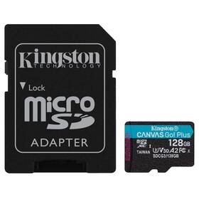 Kingston Canvas Go! Plus MicroSDXC 128GB UHS-I U3 (170R/90W) + adaptér (SDCG3/128GB)
