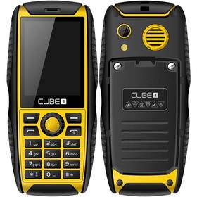 CUBE 1 S200 Dual SIM (MTOSCUS200051) černý/žlutý (vrácené zboží 8800113463)