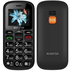 Aligator A321 Senior Dual SIM (A321GB) čierny/sivý