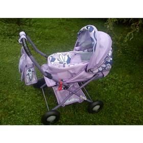 Kočiarik pre bábiky Alltoys Zuzia ATX fialový