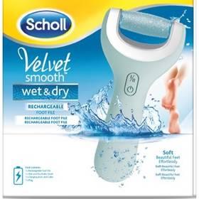 Elektrický pilník na chodidlá Scholl Velvet Smooth Wet & Dry sivý/modrý