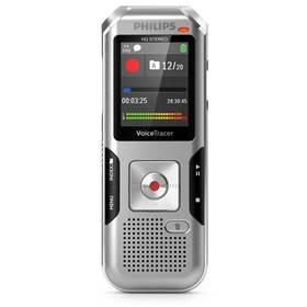 Philips DVT4010 (855971006205) stříbrný Sluchátka Philips SHE3590WT do uší (zdarma)