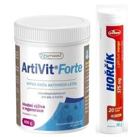 Vitar Nomaad Artivit 600g + šumivý vitamín Vitar Hořčík 375 mg Šumivý vitamín Vitar Hořčík 375 mg mango (zdarma) + Doprava zdarma