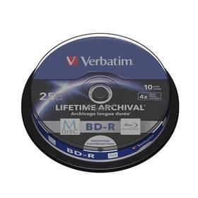 Verbatim BD-R M-Disc 25GB, 4x, printable, 10-cake (43825) + Doprava zdarma