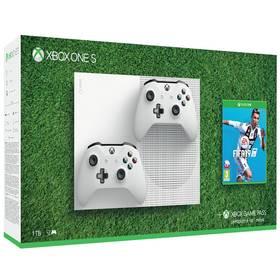 Microsoft Xbox One S 1 TB + 2 ovladače + FIFA 19 (234-00607)