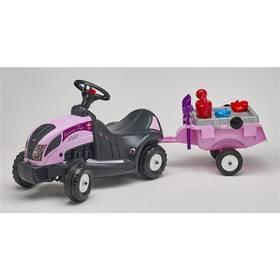 FALK - traktor Princes s volantem, valníkem a příslušenstvím plast