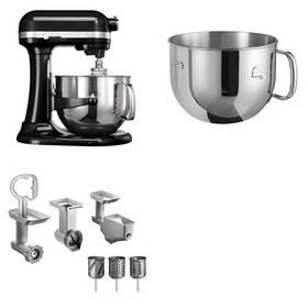 Set KitchenAid - kuchyňský robot 5KSM7580XEOB + 5KR7SB mísa 6,9 l + FPPC balíček s příslušenstvím + Doprava zdarma