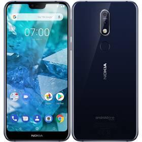 Nokia 7.1 Dual SIM (11CTLL01A20) modrý SIM s kreditem T-Mobile 200Kč Twist Online Internet (zdarma)Software F-Secure SAFE, 3 zařízení / 6 měsíců (zdarma)