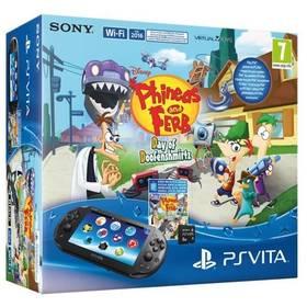 Herní konzole Sony PS VITA WiFi + Phineas&Ferb voucher + 8GB pam. karta - černá (PS719853640)