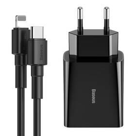 Baseus Speed Mini PD Single USB-C, 18W + lightning kabel 1m (TZCCFS-X01) černá (vrácené zboží 8800927795)