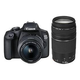 Canon EOS 2000D + 18-55 IS II + 75-300 (2728C017AA) černý