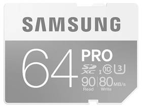 Samsung SDXC PRO 64GB UHS-I U3 (90R/80W) (MB-SG64E/EU)