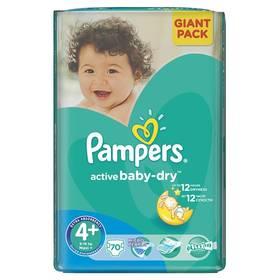Pampers Active Baby-dry vel. 4+ Maxi+, 70ks + Doprava zdarma