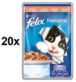 Felix Fantastic s lososem v želé 20 x 100g