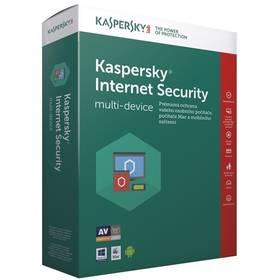 Kaspersky Internet Security multi-device 2017 CZ, 3 zařízení, 1 rok, nová licence, box + 3 měsíce navíc zdarma (KL1941OBCBS-7CZ)