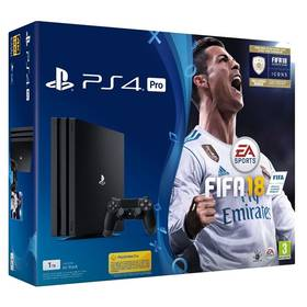 Sony PlayStation 4 PRO 1TB + FIFA18 + PS Plus 14 dní (PS719914365) černá + Doprava zdarma