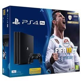 Sony PlayStation 4 PRO 1TB + FIFA18 + PS Plus 14 dní (PS719914365) čierna