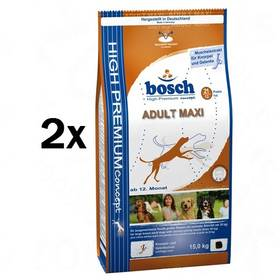 Bosch Adult Maxi 2 x 15 kg , pro dospělé psy + Doprava zdarma