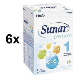 Sunar Premium 1, 600g x 6ks + Doprava zdarma