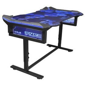 E-Blue 135x78,5 cm, RGB podsvícení, výškově nastavitelný, s podložkou pod myš (EGT004BKAA-IA) čierny/modrý