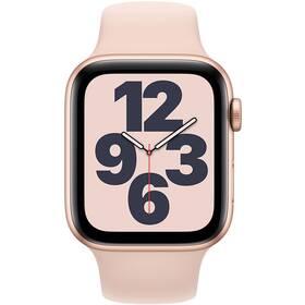 Apple Watch SE GPS 40mm pouzdro ze zlatého hliníku - pískově růžový sportovní náramek (MYDN2HC/A)