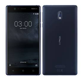 Mobilní telefon Nokia 3 Dual SIM (11NE1L01A13) modrý (Náhradní obal / Silně deformovaný obal 8800091319)