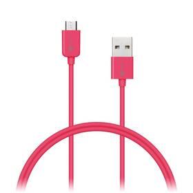Connect IT Wirez USB/micro USB, 1m (CI-574) růžový