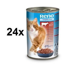 Reno pro kočky s hovězím 24 x 415g