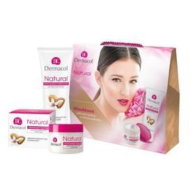Dermacol Natural mandlová péče (denní hloubková péče na suchou pleť 50 ml + výživný mandlový krém na ruce a nehty 100 ml)