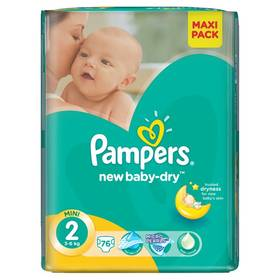 Pampers New Baby-dry Mini vel. 2, 228ks + Doprava zdarma