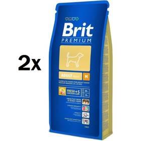Brit Premium Dog Adult M 2 x 15 kg + Doprava zdarma