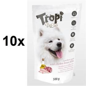 Tropi De Lux Dog kousky lunchmeat s příchutí kuřecích prsíček 10 x 500 g