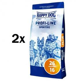 HAPPY DOG Profi-Line SPORTIVE 26/16 - 2 x 20 kg