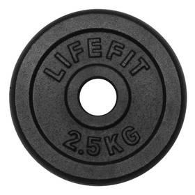 LIFEFIT kovový 2,5kg pro 30mm tyč černý + Doprava zdarma