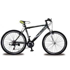 """Olpran 2016 Detroit 26"""" steel size 21"""" s bezpečnostními prvky černé/bílé/zelené Sada cyklodoplňků (zvonek+blikačka+světlo) pro kolo dospělé (zdarma) + Doprava zdarma"""