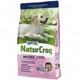 HAPPY DOG Natur-Croq Welpen 15 kg Konzerva HAPPY DOG Rind Pur - 100% hovězí maso 400 g (zdarma) + Antiparazitní obojek za zvýhodněnou cenu + Doprava zdarma