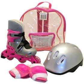Sada Rulyt brusle + helma + chrániče velikost S, růžová
