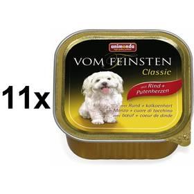 Paštéta Animonda Vom Feinsten Classic hovězí + krůtí srdce 11 x 150g