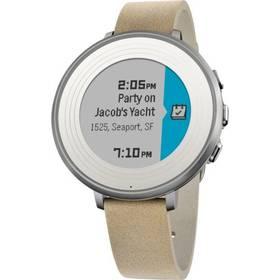 Pebble Time Round Smartwatch, 14mm pásek (60100046) stříbrné Dooble KIDS ADC Blacfire (zdarma) + Doprava zdarma