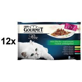 Gourmet Perle mini filetky ve šťávě se zeleninou Multipack 12 x (3+1 zdarma 85g)