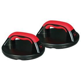 Rotační úchyty Iron Gym Push Up Grips - černá/červená