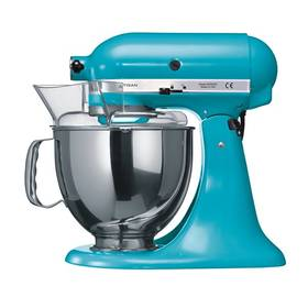 KitchenAid Artisan 5KSM150PSECL modrý Příslušenství k robotu KitchenAid KB3SS nerezová mísa (3l) (zdarma)Příslušenství k robotu KitchenAid 5KFE5T plochý šlehač se stěrkou (zdarma) + Doprava zdarma