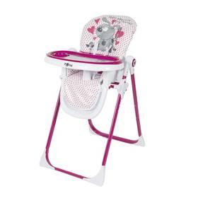 Jedálenská stolička Zopa PRIMO PING DOG biela/ružová