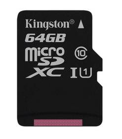 Kingston MicroSDXC 64GB UHS-I U1 (45R/10W) (SDC10G2/64GBSP)