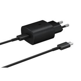 Samsung EP-TA800, rychlonabíjení, USB-C, 25W, kabel 1m (EP-TA800XBEGWW) čierna