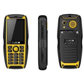 CUBE 1 S200 Dual SIM (MTOSCUS200051) černý/žlutý