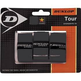 Tenisová omotávka Dunlop Bio Tour Overgrip, 3 ks - černá