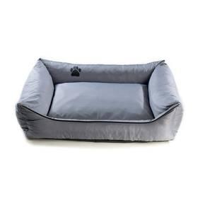 Argi pro psa obdélníkový - 100x80 cm / snímatelný potah šedý + Doprava zdarma