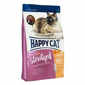 HAPPY CAT Sterilised Atlantik-Lachs / Losos 4 kg